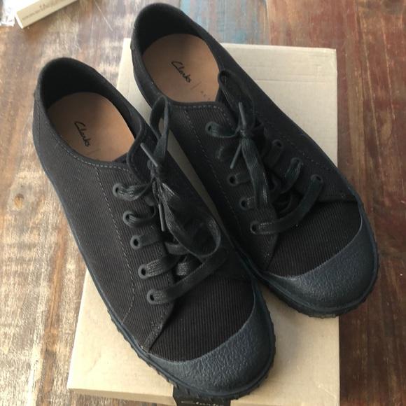 chorro herramienta Estado  Clarks Shoes | Nwt Clarks Cyrus Lace Sneaker In Black Size 95 | Poshmark